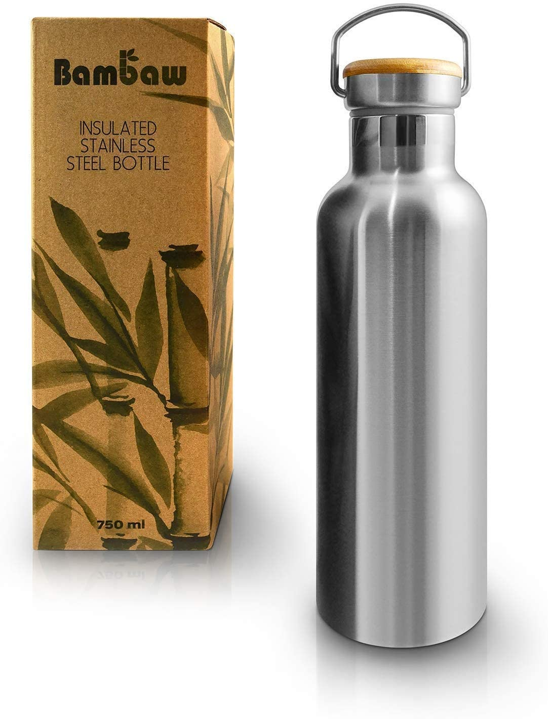 Bambaw Water Bottle | Stainless Steel Water Bottle | Eco Friendly Reusable Bottle | Leakproof and Sustainable Metal Water Bottle