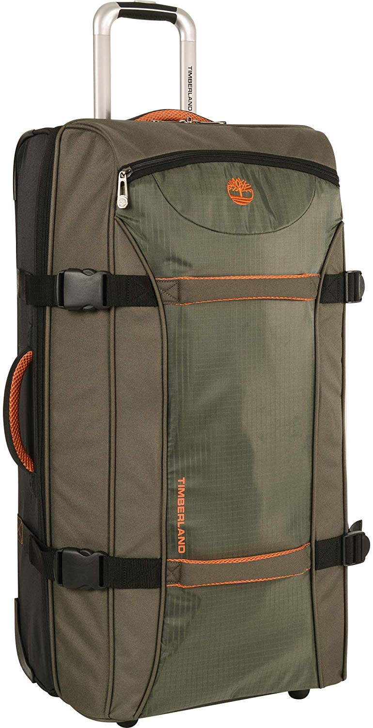 Timberland Wheeled Duffle Bag - Carry On Check In Lightweight Rolling Luggage Overnight Travel Bag Suitcase