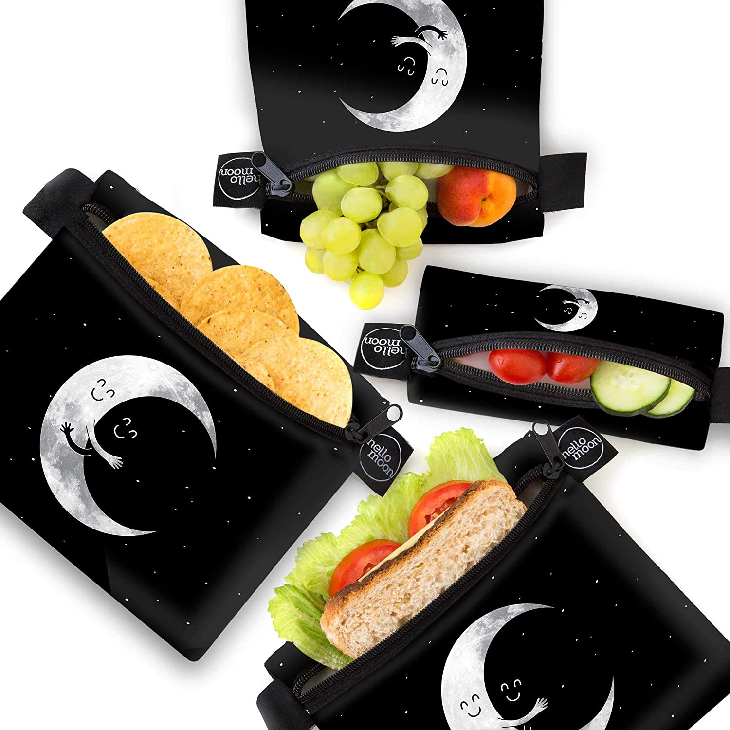 Eco-Friendly Reusable Snack and Sandwich Bags