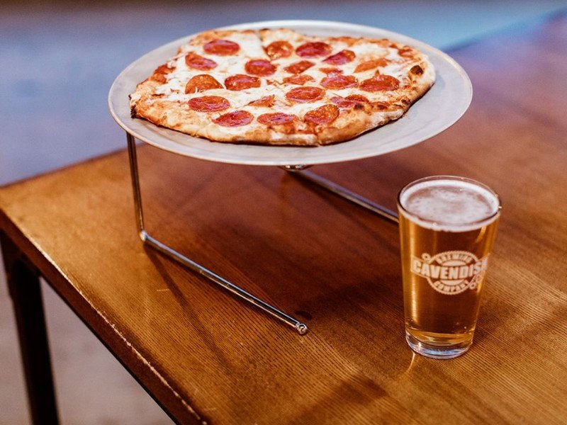 Cavendish pizza and beer