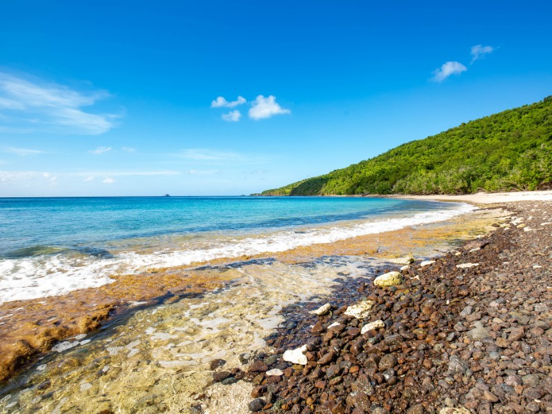 Flamenco Beach seaside shore, Culebra, Puerto Rico