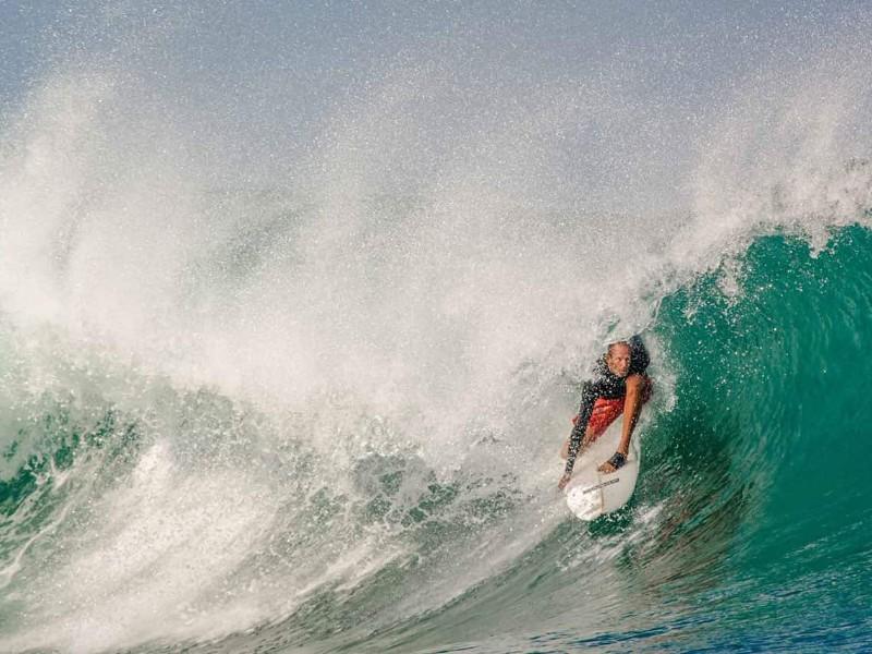 surfing at Nihi Sumba on Sumba Island