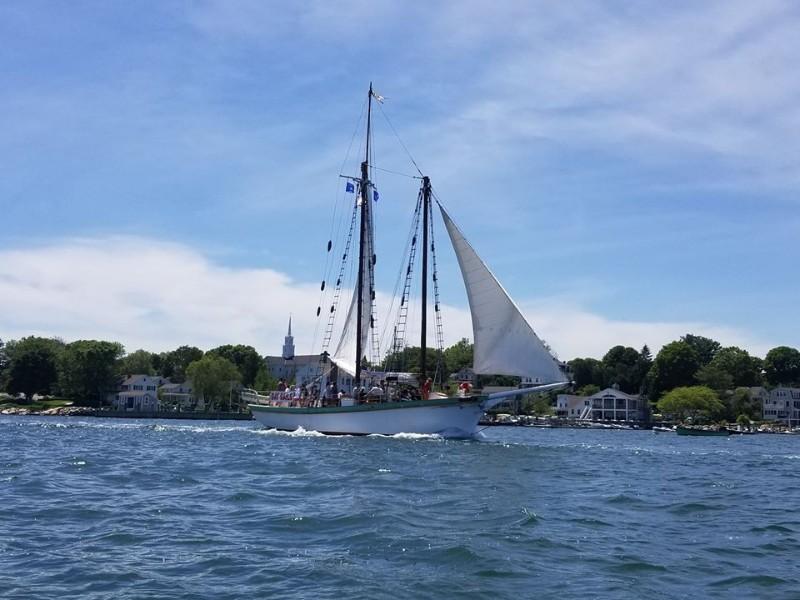 Sailing on the Schooner Argia from Mystic, CT