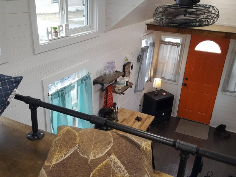 Top view at Tiny House in Euclid Beach Mobile Home Community