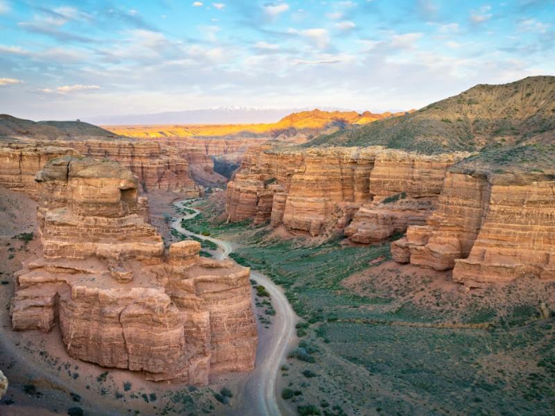 View of Charyn Canyon, Kazakhstan