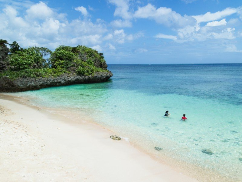 secluded tropical beach, Ishigaki Island National Park of the Yaeyama Islands, Japan