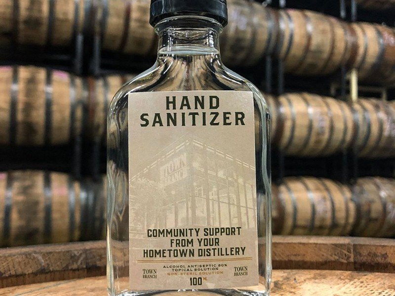 Hand sanitizer made at Lexington Brewing & Distilling