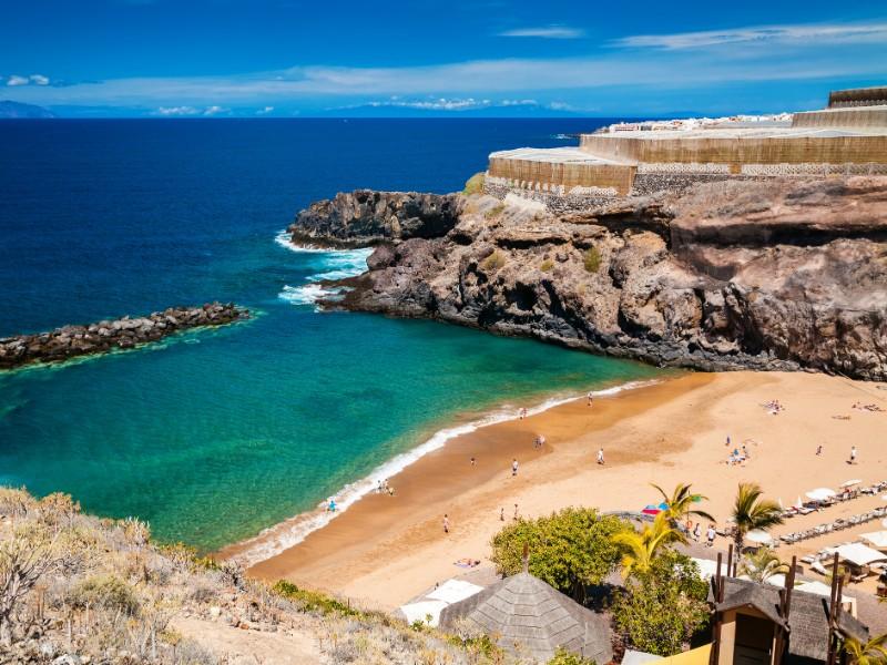 Abama beach in Tenerife.