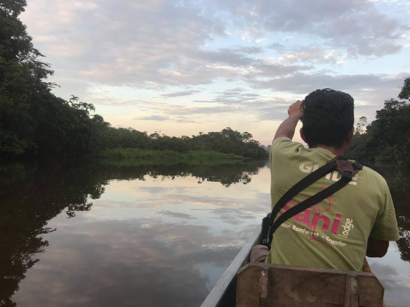 Paddling through the Amazon, Ecuador