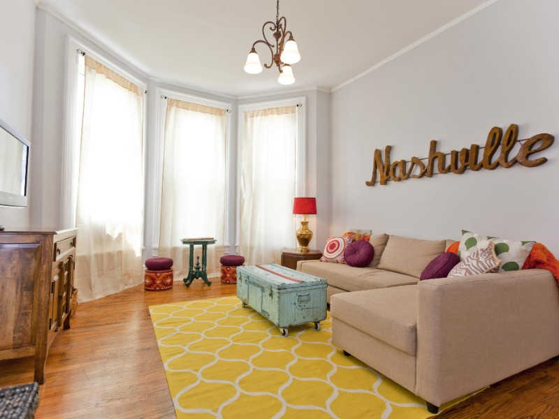 This Nashville apartment is on Broadway.