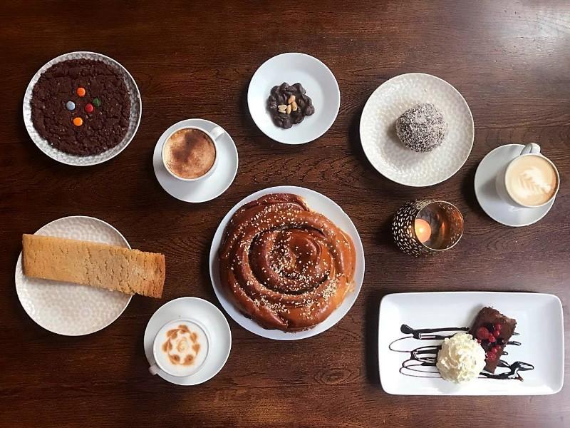 Cafe Husaren famous cinnamon roll