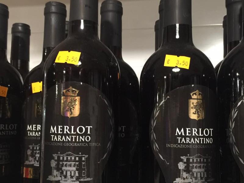 Tarantino wine, Ostuni, Italy