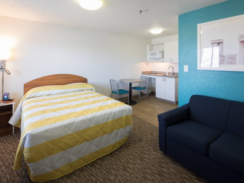 Room at an InTown Suites Extended Stay hotel