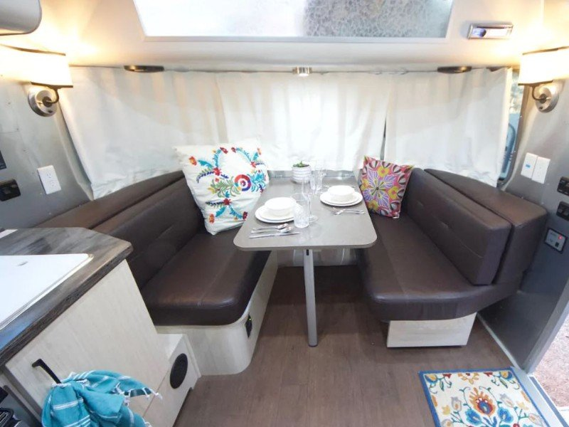 Dinette at Warm & Cozy Airstream Imperio