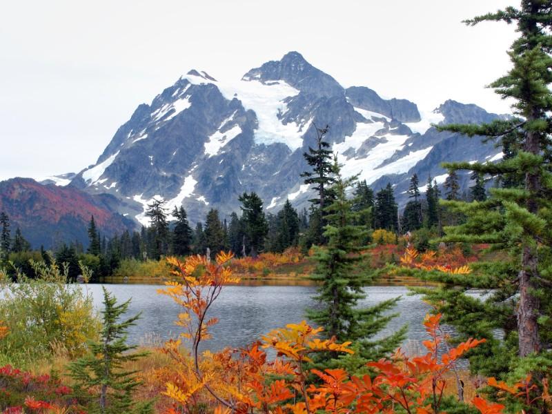 fall at Mount Baker, Washington