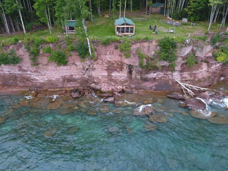 The Love shack! On the Love Lot! On Lake Superior!