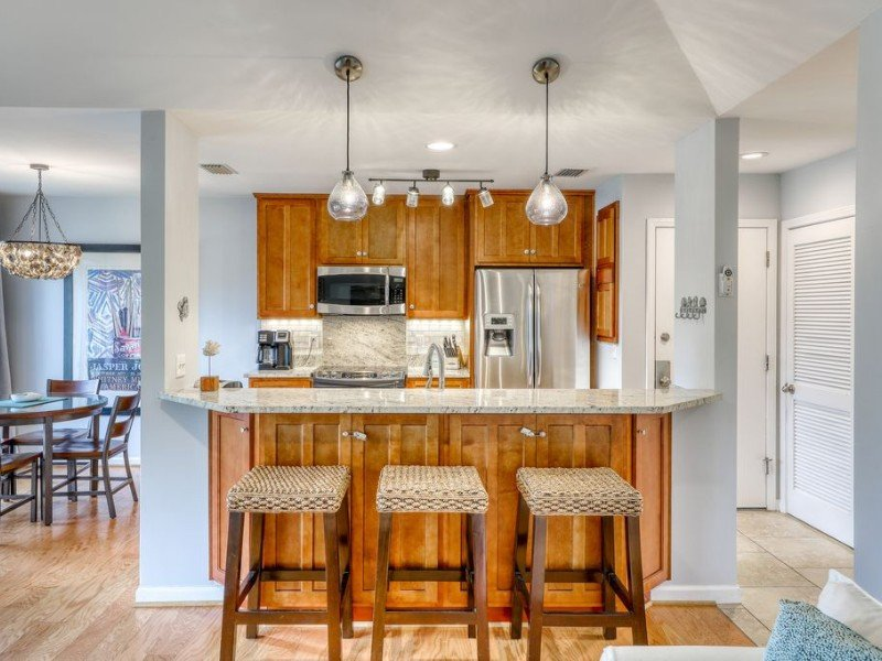 Kitchen area at Dog-Friendly, Renovated Condo with Screened Porch