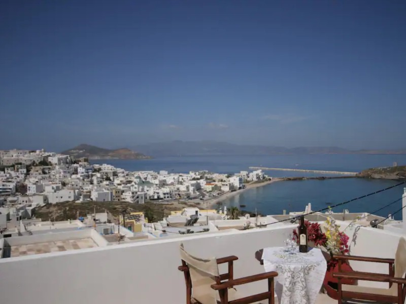 Evilion Terrace, Naxos, Greece