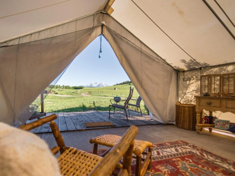 Glamping Farm Stay with Mount Sopris Views, Colorado