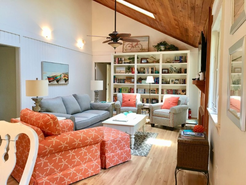 Living area at Oceanwoods 3-Bed, 2-Bath with Enlarged Screen Porch