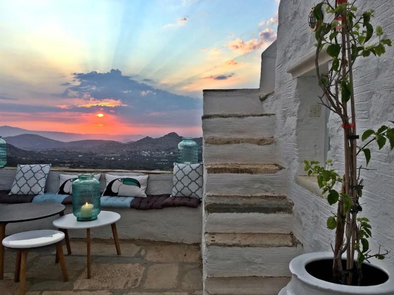 Restored Traditional White House, Filoxi, Naxos