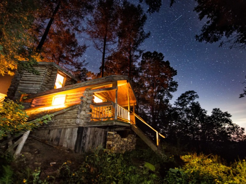 Incredible stargazing at an off the grid cabin in the Green Mountains, Vermont