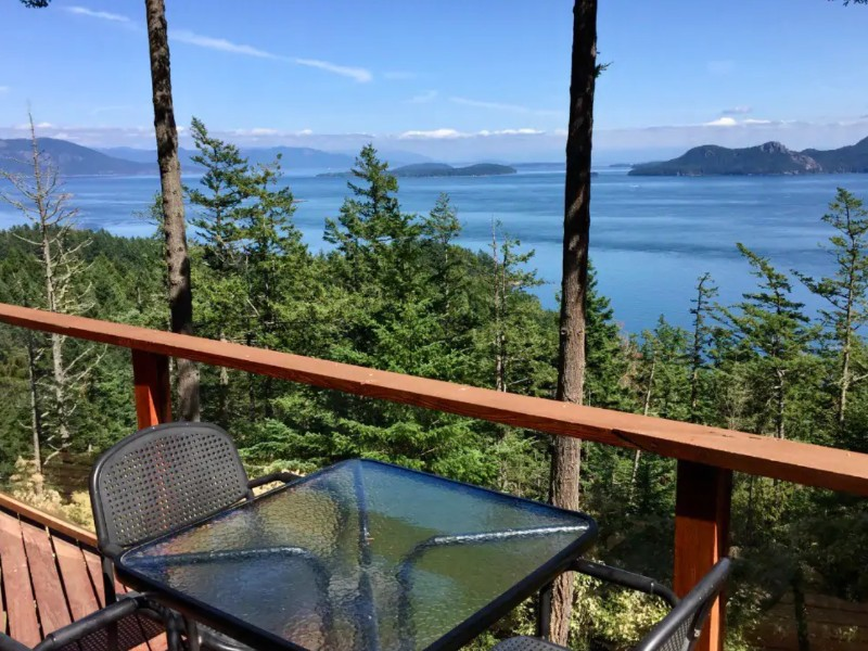 Two story home with ocean view on Orcas Island, Washington