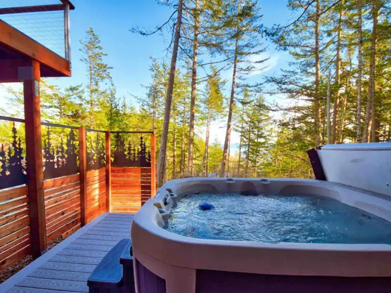 Water view home with hot tub, Orcas Island, Washngton