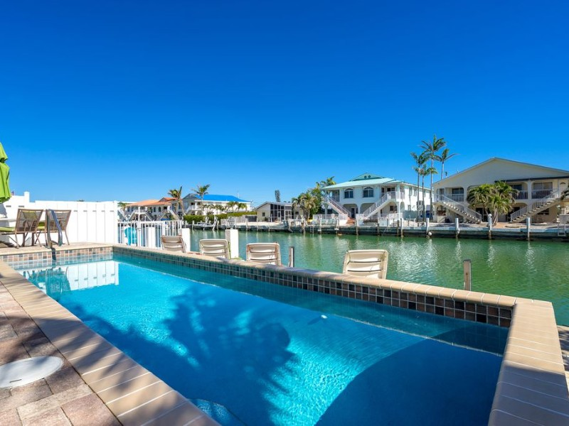 Waterfront home with dock and pool, Key Colony Beach, Florida