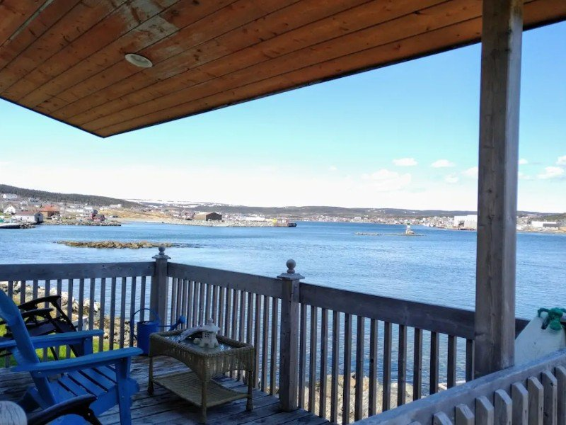 Wrap around porch with view of St. Anthony Harbour, Newfoundland