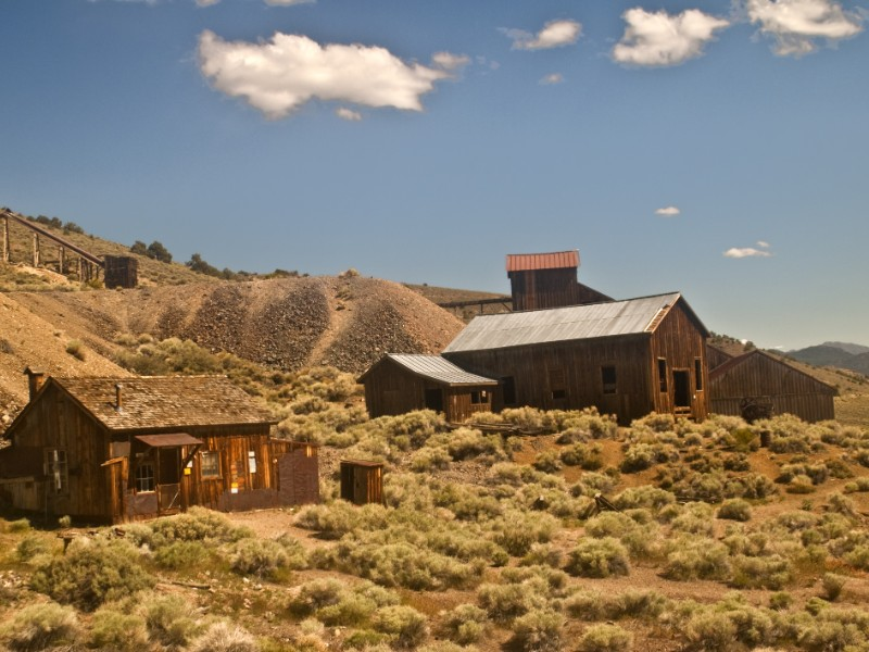 Old Mining Ghost Town at the Berlin-Ichthyosaur State Park