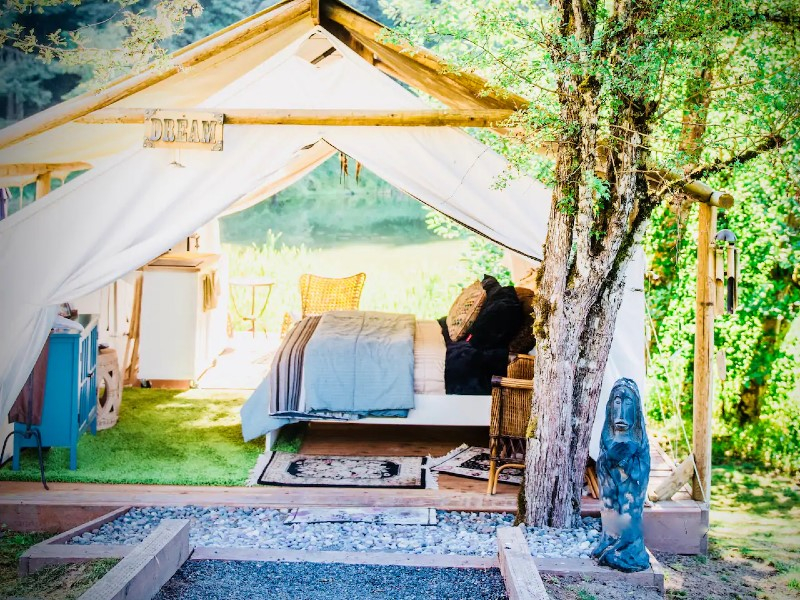 Cozy Glamping unplug, recharge, private getaway