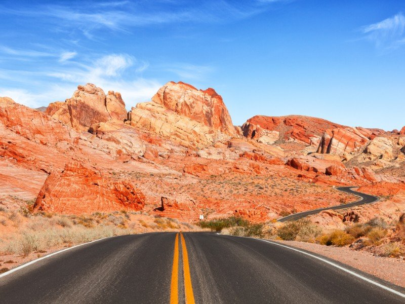 Drive through Valley of Fire State Park