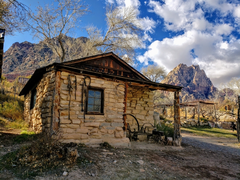 Old structure at Spring Mountain Ranch State Park