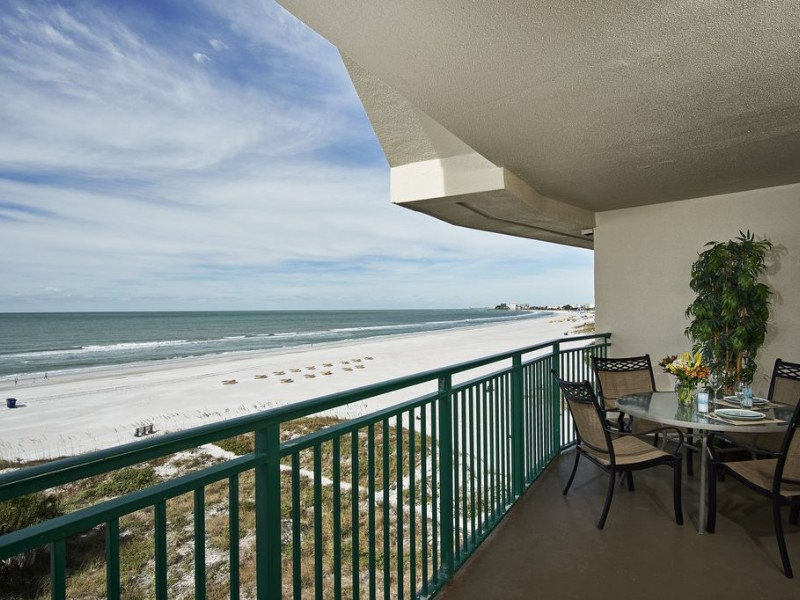 Balcony at Gulf Front Two-Bedroom Condo with Panoramic Ocean View