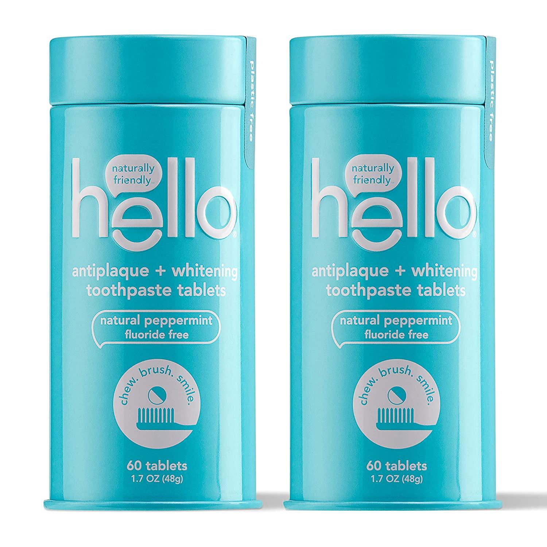 Hello Antiplaque + Whitening Toothpaste Tablets