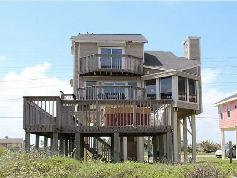 Exterior of Beachfront House with Hot Tub,