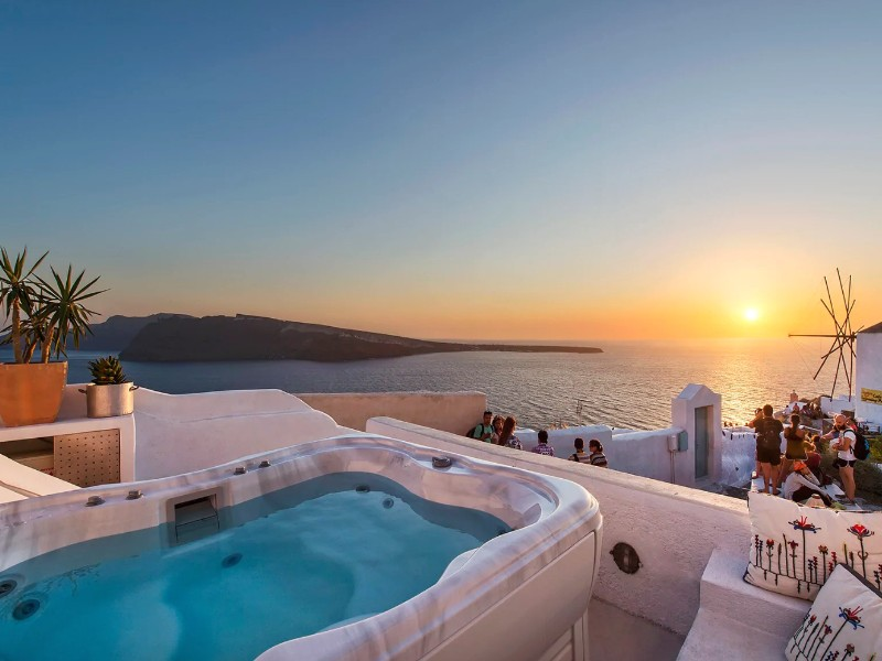 CanavaView Sunset-by Thireon, Santorini