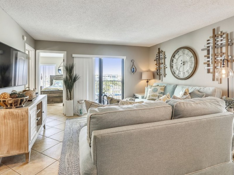 Living room at Caprice 401 with Awesome Views and Great Location
