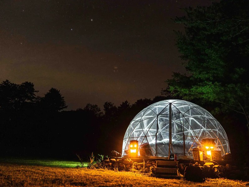 ComfyDome Glamping Pond-Side Site - Jefferson, Maine