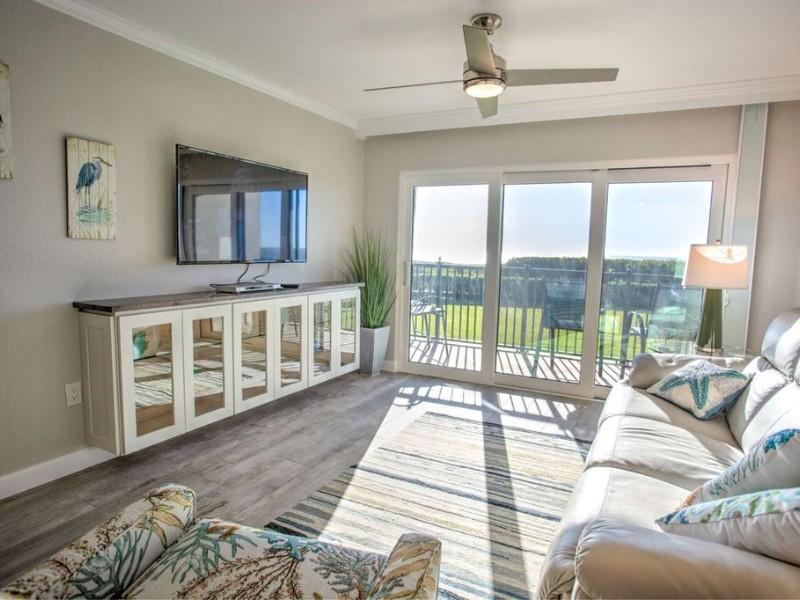 Living room at Direct Gulf View Upgraded Condo
