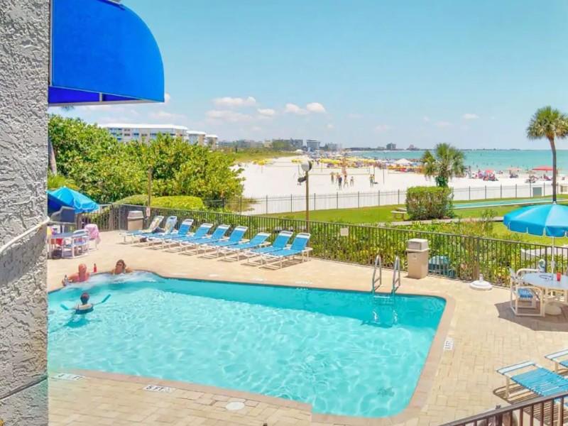Pool at Direct St Pete Beach Beachfront Condo