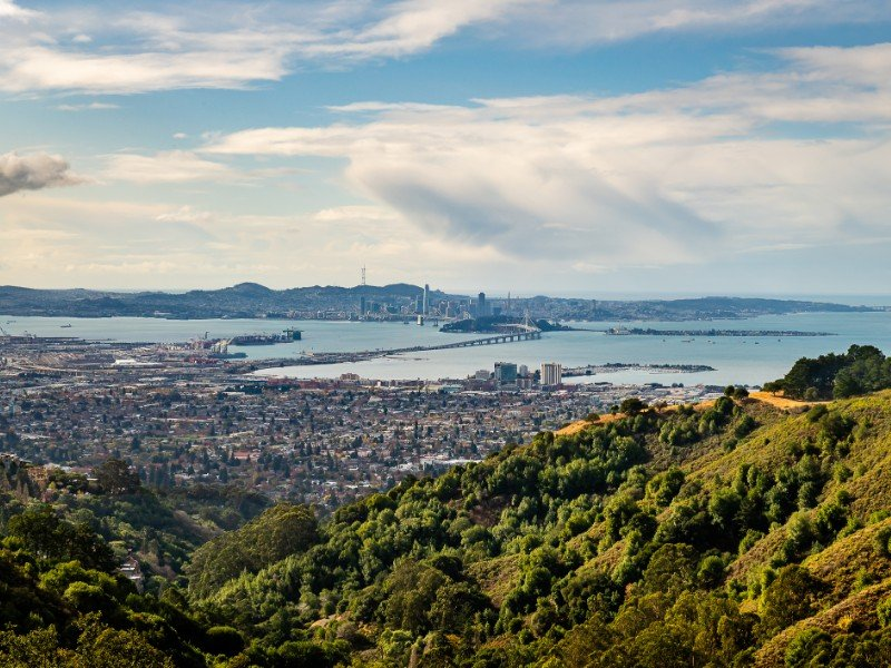 Hiking along the Vollmer Peak Trail in Tilden Park and the Oakland Hills.