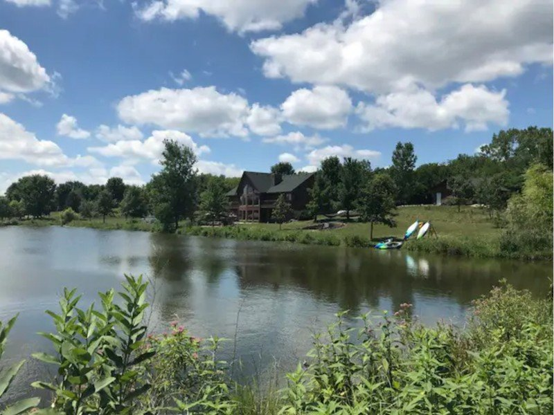 Lodge on 23 Acres with Private Lake, Norwalk, Iowa