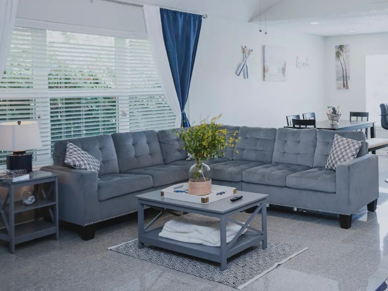 Couch at New Updated Spacious Beach House
