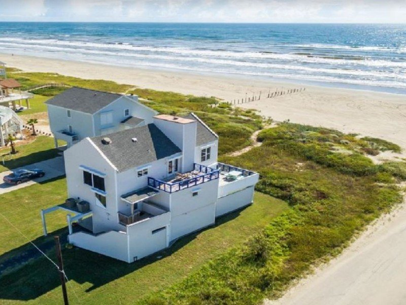 Aerial view of Ocean Front Beach House