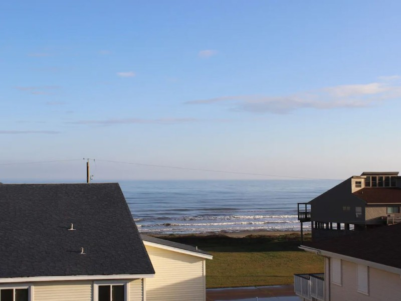 View from Steps to Beach Sleeps 8