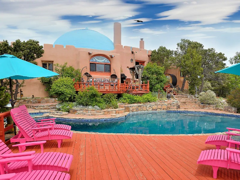 Unique Oasis Pool and Hot Tub, Santa Fe, New Mexico
