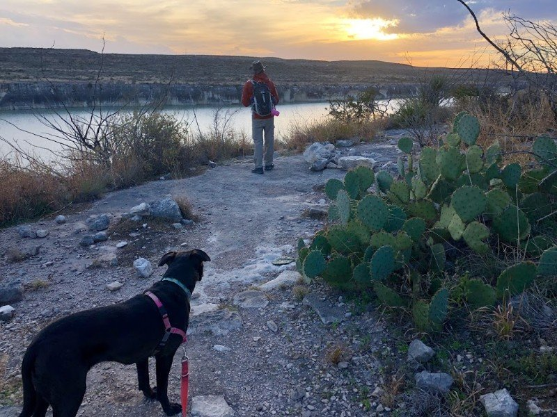Hiking trail near Del Rio, Texas