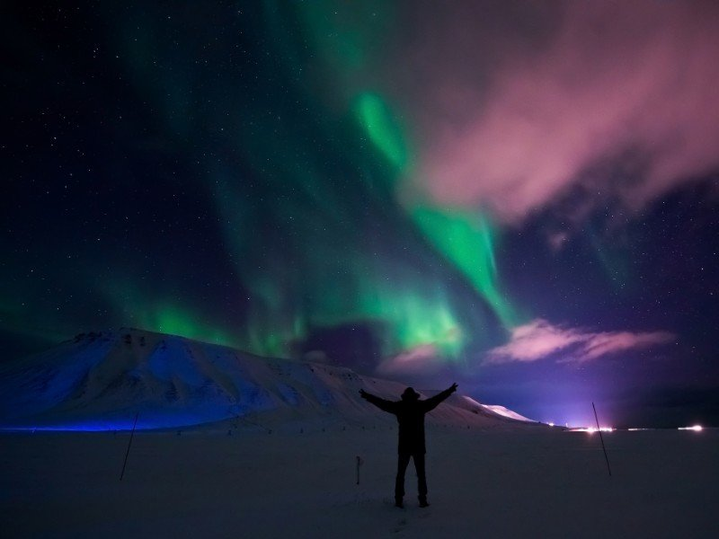 Northern Lights near Longyearbyen, Norway